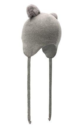 Детского шерстяная шапка CHOBI серого цвета, арт. WH-3000 | Фото 2