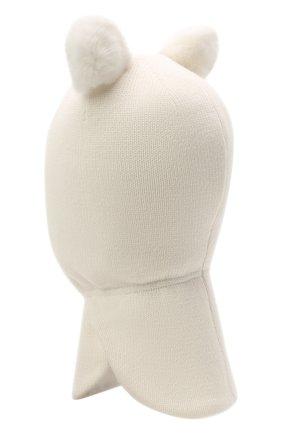 Детского шерстяная балаклава CHOBI белого цвета, арт. WH-3003 | Фото 2