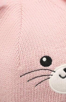Детского шерстяная балаклава CHOBI светло-розового цвета, арт. WH-3003   Фото 3 (Материал: Текстиль, Шерсть, Вискоза)