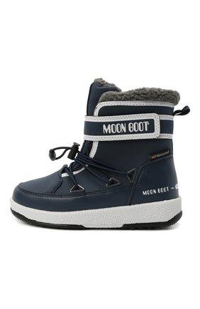 Детские утепленные сапоги MOON BOOT синего цвета, арт. 965-34051600 | Фото 2