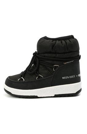 Детские утепленные сапоги MOON BOOT черного цвета, арт. 965-34051800 | Фото 2