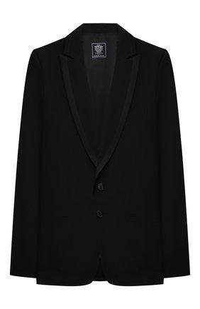 Детский шерстяной костюм DAL LAGO черного цвета, арт. N057M/1011/17/L-18/XL | Фото 2 (Материал подклада: Вискоза; Рукава: Длинные; Кросс-КТ: костюм; Материал внешний: Шерсть; Ростовка одежда: 16 лет | 164 см)