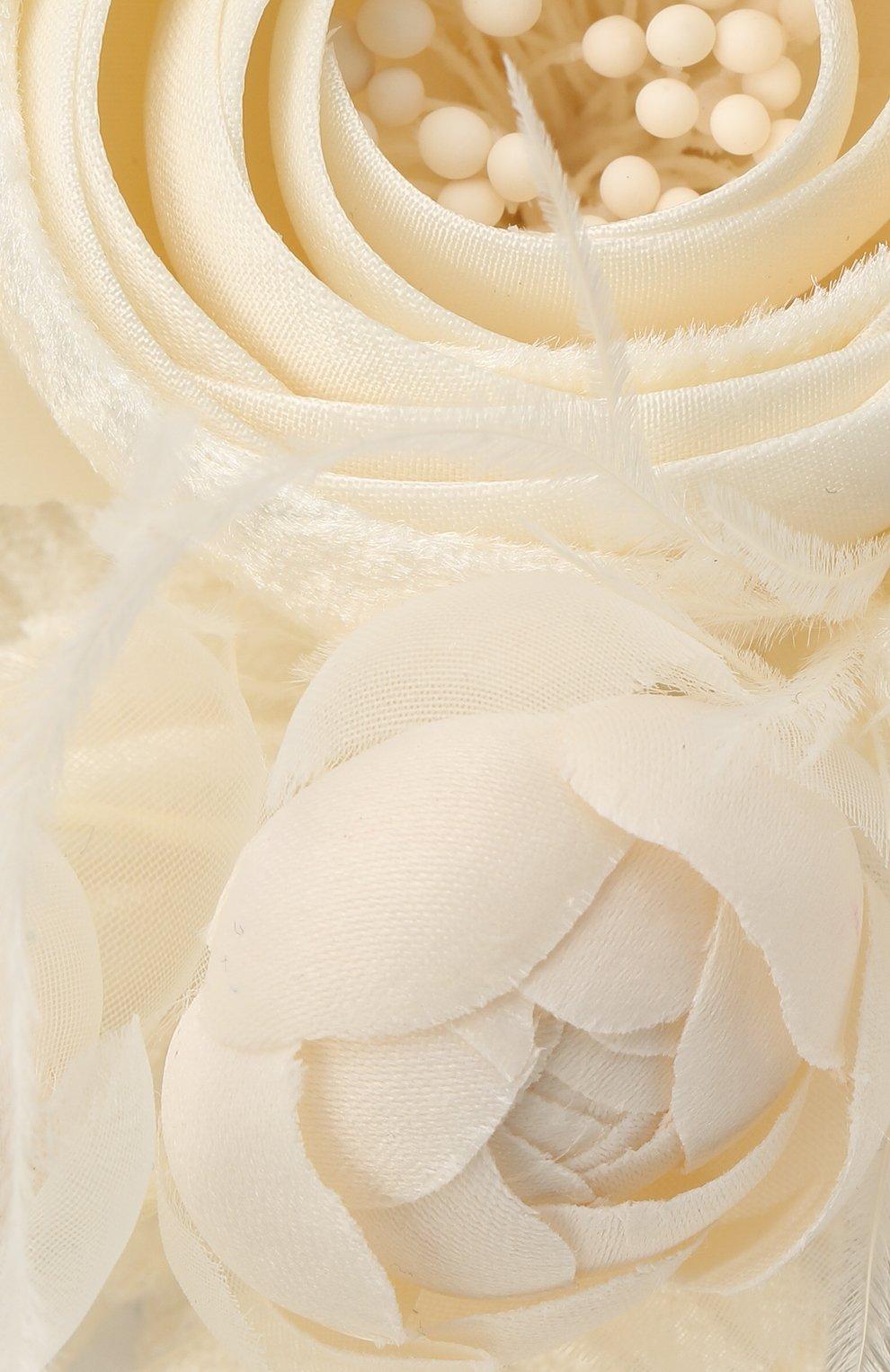 Детского ободок EIRENE белого цвета, арт. H2107   Фото 3 (Материал: Текстиль, Синтетический материал)