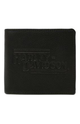 Мужской кожаное портмоне HARLEY-DAVIDSON черного цвета, арт. IM2127L-Black | Фото 1