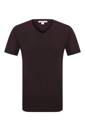 Мужская хлопковая футболка JAMES PERSE темно-коричневого цвета, арт. MLJ3352 | Фото 1