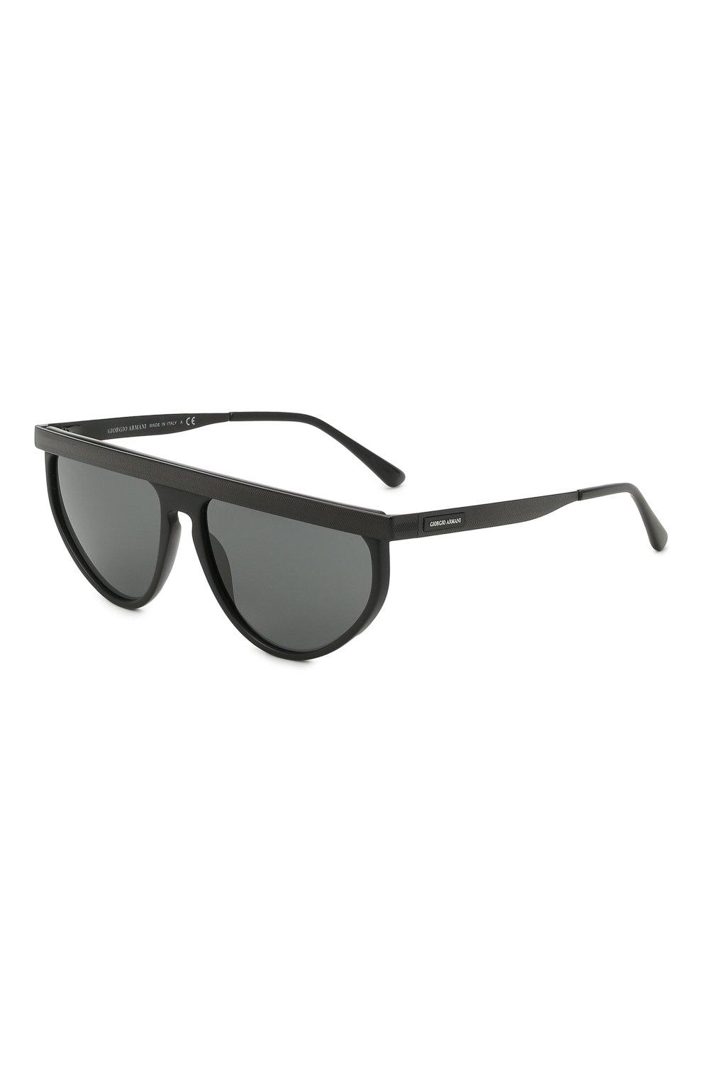 Мужские солнцезащитные очки GIORGIO ARMANI черного цвета, арт. AR6117 | Фото 1