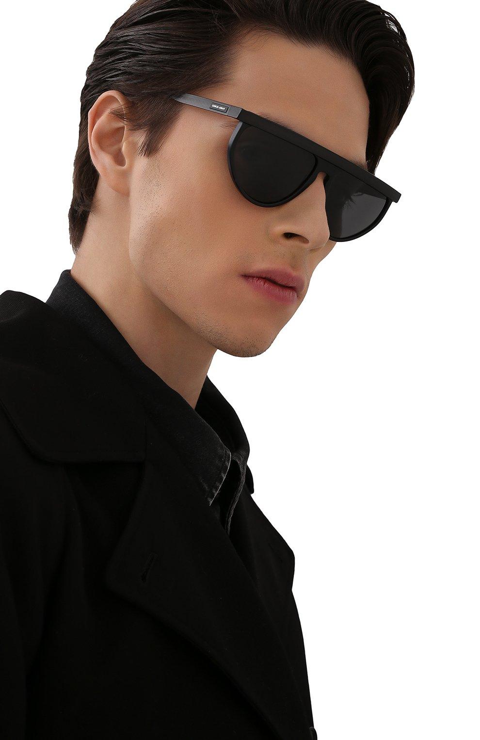 Мужские солнцезащитные очки GIORGIO ARMANI черного цвета, арт. AR6117 | Фото 2