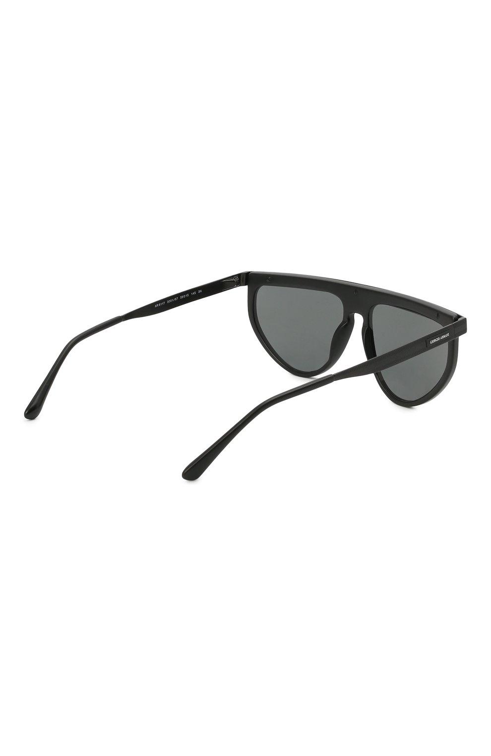 Мужские солнцезащитные очки GIORGIO ARMANI черного цвета, арт. AR6117 | Фото 4