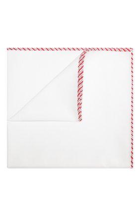 Мужской хлопковый платок BRUNELLO CUCINELLI белого цвета, арт. MQ8390091 | Фото 1