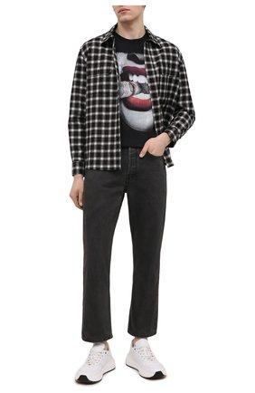 Мужская хлопковая футболка BISIBIGLIO черного цвета, арт. S0LDI IN FUM0/2057 | Фото 2