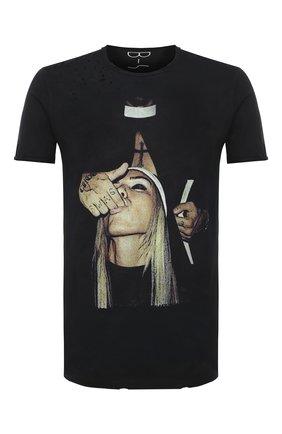Мужская хлопковая футболка BISIBIGLIO черного цвета, арт. PRET SU0R/2828INV | Фото 1