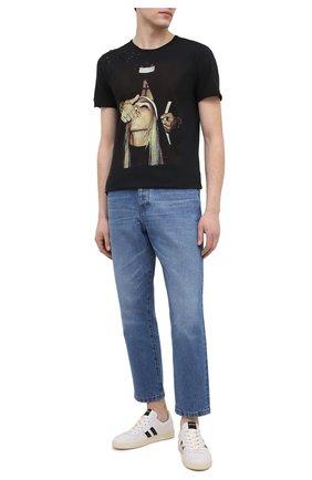 Мужская хлопковая футболка BISIBIGLIO черного цвета, арт. PRET SU0R/2828INV | Фото 2