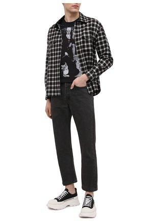 Мужская хлопковая футболка BISIBIGLIO черно-белого цвета, арт. LU SM0KE NUN/2828INV | Фото 2
