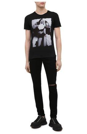 Мужская хлопковая футболка BISIBIGLIO черно-белого цвета, арт. BEDNUNSEX/2828 | Фото 2