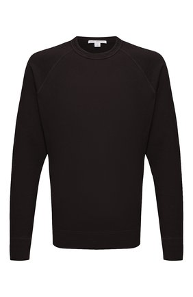 Мужской хлопковый свитшот JAMES PERSE темно-коричневого цвета, арт. MXA3278 | Фото 1