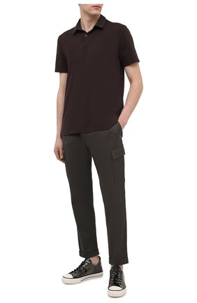 Мужское хлопковое поло JAMES PERSE темно-коричневого цвета, арт. MSX3337 | Фото 2