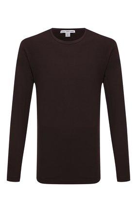 Мужская хлопковый лонгслив JAMES PERSE темно-коричневого цвета, арт. MLJ3351 | Фото 1