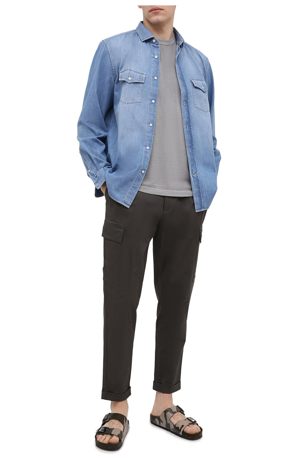 Мужская хлопковая футболка JAMES PERSE серого цвета, арт. MLJ3311 | Фото 2