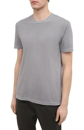 Мужская хлопковая футболка JAMES PERSE серого цвета, арт. MLJ3311 | Фото 3