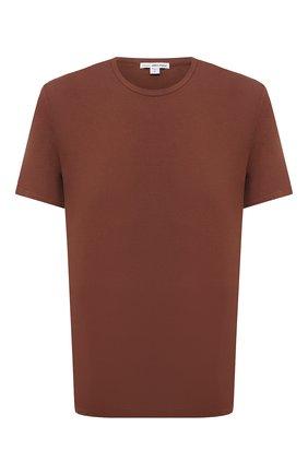 Мужская хлопковая футболка JAMES PERSE коричневого цвета, арт. MLJ3311 | Фото 1