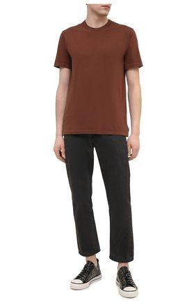 Мужская хлопковая футболка JAMES PERSE коричневого цвета, арт. MLJ3311 | Фото 2