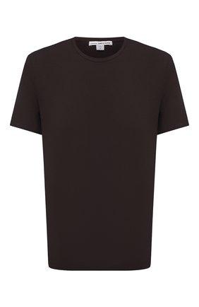 Мужская хлопковая футболка JAMES PERSE темно-коричневого цвета, арт. MLJ3311 | Фото 1