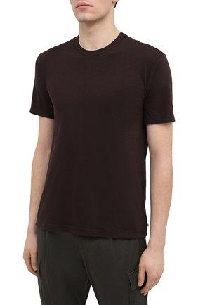 Мужская хлопковая футболка JAMES PERSE темно-коричневого цвета, арт. MLJ3311 | Фото 3
