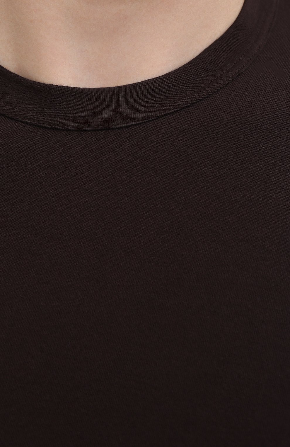 Мужская хлопковая футболка JAMES PERSE темно-коричневого цвета, арт. MLJ3311 | Фото 5