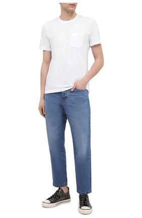 Мужская хлопковая футболка JAMES PERSE белого цвета, арт. MLJ3282 | Фото 2 (Материал внешний: Хлопок; Длина (для топов): Стандартные; Рукава: Короткие; Стили: Кэжуэл; Принт: Без принта)