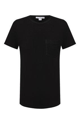 Мужская хлопковая футболка JAMES PERSE черного цвета, арт. MLJ3282 | Фото 1 (Стили: Кэжуэл; Материал внешний: Хлопок; Длина (для топов): Стандартные; Рукава: Короткие; Принт: Без принта)