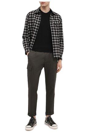 Мужская хлопковая футболка JAMES PERSE черного цвета, арт. MLJ3282 | Фото 2 (Стили: Кэжуэл; Материал внешний: Хлопок; Длина (для топов): Стандартные; Рукава: Короткие; Принт: Без принта)