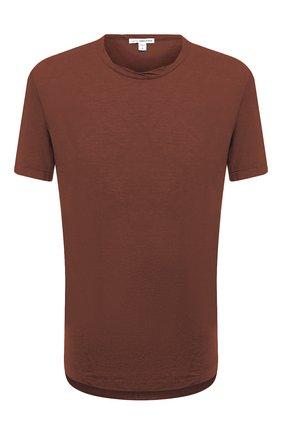 Мужская хлопковая футболка JAMES PERSE коричневого цвета, арт. MKJ3360 | Фото 1