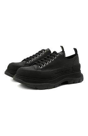 Мужские кожаные кроссовки ALEXANDER MCQUEEN черного цвета, арт. 627225/WHZ62 | Фото 1