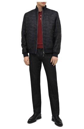 Мужской кожаный бомбер ANDREA CAMPAGNA темно-синего цвета, арт. 61800E1652600 | Фото 2 (Стили: Кэжуэл; Кросс-КТ: Куртка; Длина (верхняя одежда): Короткие; Рукава: Длинные; Материал подклада: Шелк; Мужское Кросс-КТ: Кожа и замша; Принт: Без принта)