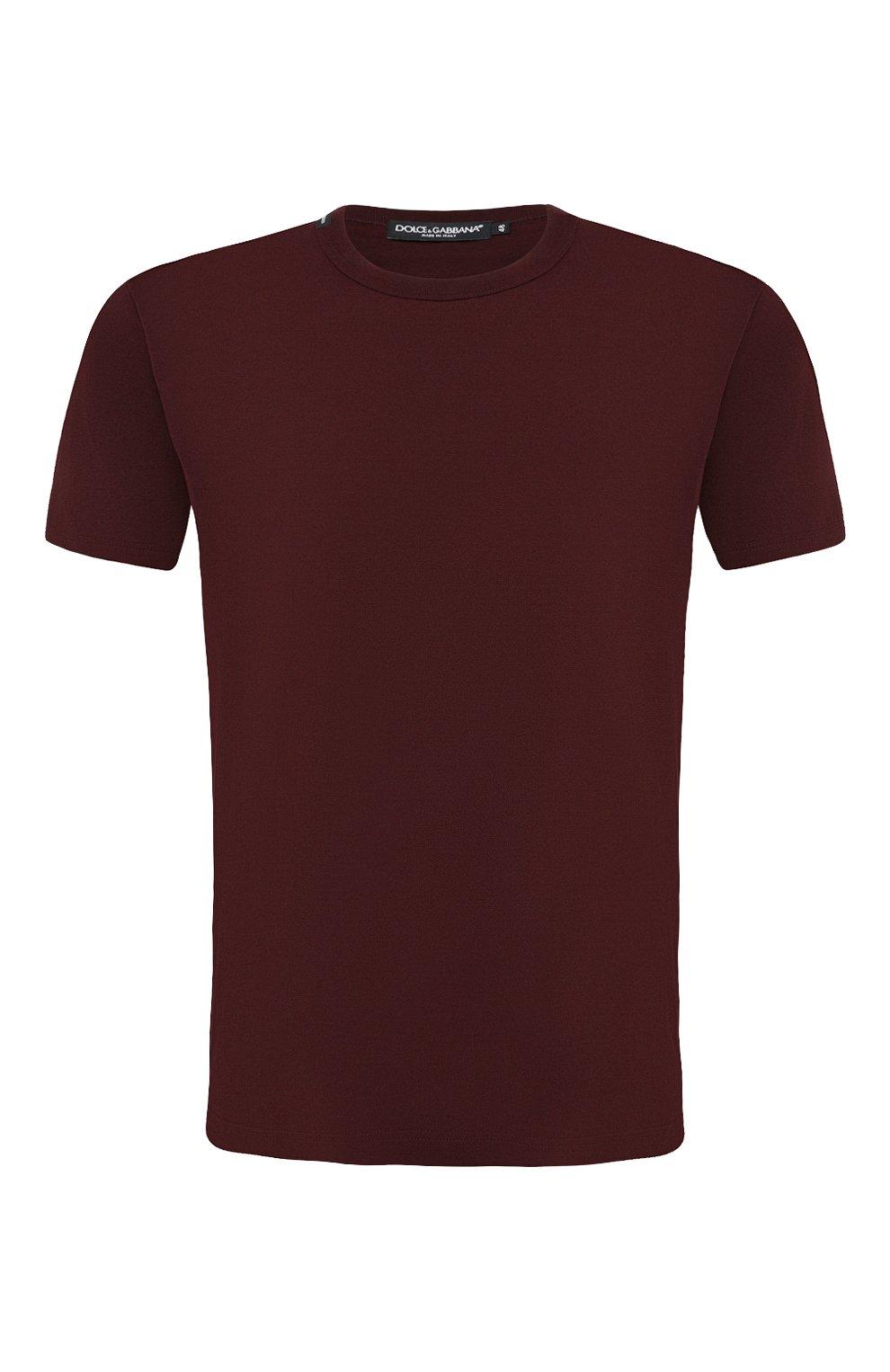 Мужская хлопковая футболка DOLCE & GABBANA бордового цвета, арт. G8JX7T/FU7EQ   Фото 1