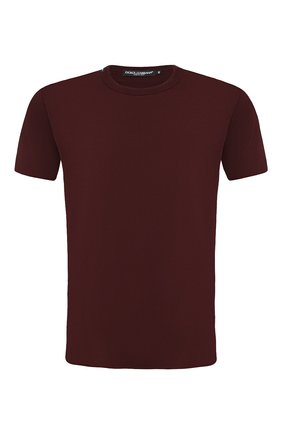 Мужская хлопковая футболка DOLCE & GABBANA бордового цвета, арт. G8JX7T/FU7EQ | Фото 1
