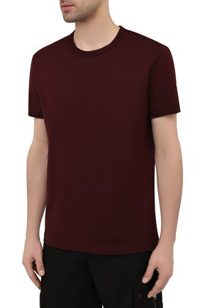 Мужская хлопковая футболка DOLCE & GABBANA бордового цвета, арт. G8JX7T/FU7EQ   Фото 3