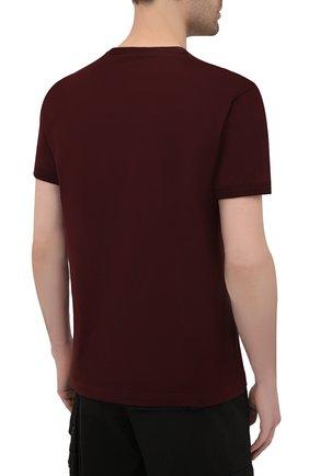 Мужская хлопковая футболка DOLCE & GABBANA бордового цвета, арт. G8JX7T/FU7EQ   Фото 4