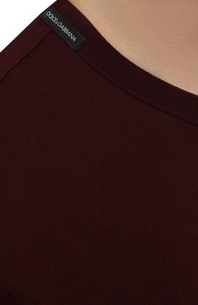 Мужская хлопковая футболка DOLCE & GABBANA бордового цвета, арт. G8JX7T/FU7EQ   Фото 5