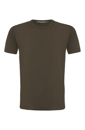 Мужская хлопковая футболка DOLCE & GABBANA хаки цвета, арт. G8JX7T/FU7EQ | Фото 1