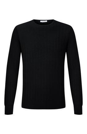 Мужской хлопковый джемпер GRAN SASSO черного цвета, арт. 57153/20647 | Фото 1