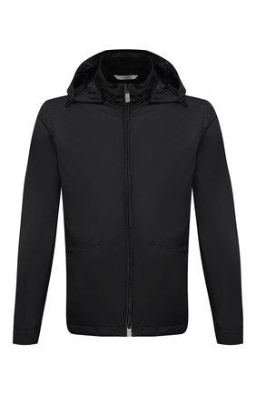 Мужская утепленная куртка CANALI черного цвета, арт. 030311/SG01949 | Фото 1 (Длина (верхняя одежда): Короткие; Материал внешний: Синтетический материал; Материал подклада: Синтетический материал; Стили: Кэжуэл; Рукава: Длинные; Кросс-КТ: Куртка; Мужское Кросс-КТ: пуховик-короткий)