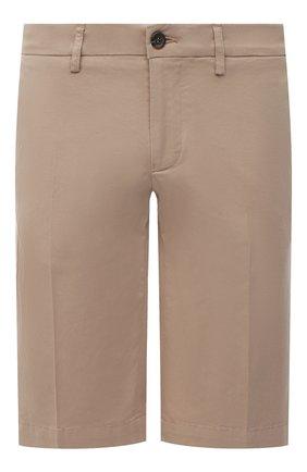 Мужские хлопковые шорты CANALI бежевого цвета, арт. 95637/PT00452 | Фото 1