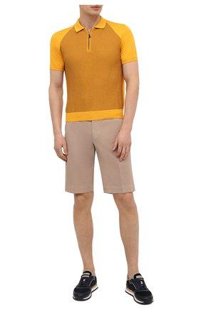 Мужские хлопковые шорты CANALI бежевого цвета, арт. 95637/PT00452 | Фото 2