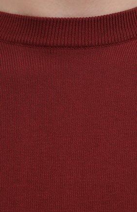 Мужской хлопковый джемпер CANALI бордового цвета, арт. C0012/MK00145 | Фото 5 (Мужское Кросс-КТ: Джемперы; Рукава: Длинные; Принт: Без принта; Длина (для топов): Стандартные; Материал внешний: Хлопок; Вырез: Круглый; Стили: Кэжуэл)
