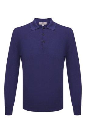 Мужское хлопковое поло CANALI фиолетового цвета, арт. C0017/MK00145 | Фото 1