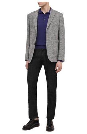 Мужское хлопковое поло CANALI фиолетового цвета, арт. C0017/MK00145 | Фото 2