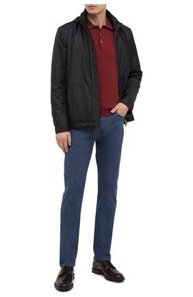 Мужское хлопковое поло CANALI бордового цвета, арт. C0017/MK00145 | Фото 2