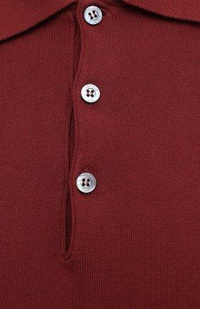 Мужское хлопковое поло CANALI бордового цвета, арт. C0017/MK00145 | Фото 5