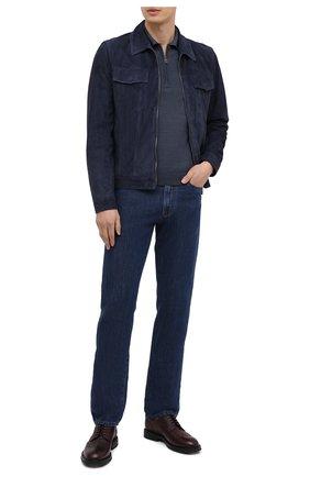 Мужское поло из шерсти и шелка CANALI темно-синего цвета, арт. C0482/MX01165 | Фото 2